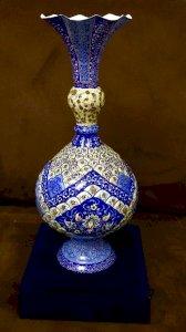 گلدان مسی میناکاری مدل شاه عباسی